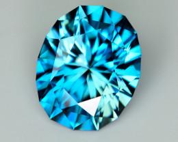 CUSTOM CUT - 2.52ct BLUE ZIRCON  - CAMBODIA - # JDS1119