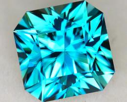 CUSTOM CUT - 2.38ct BLUE ZIRCON  - CAMBODIA - # JDS1022