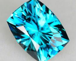 CUSTOM CUT - 2.76ct BLUE ZIRCON  - CAMBODIA - # JDS1071