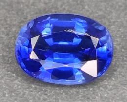 1.10 CTS EXCELLENT RARE BLUE SAPPHIRE COLOR NATURAL KYANITE OVAL GEM