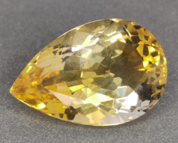 16.70 CTS DAZZLING  NATURAL CITRINE PEAR