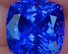 10.96 CT $6000 Premium Gem !! Rare Red Flash Unheated Blue Tanzanite
