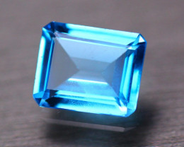 4.68Ct Natural Swiss Blue Topaz Octagon Cut Lot GW123