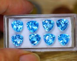 18.79ct Natural Sky Blue Topaz Trillion Cut Lot GW127