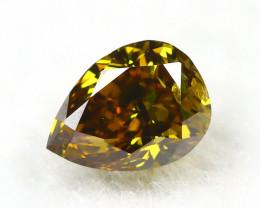 Yellowish Orange Diamond 0.18Ct Natural Untreated Genuine Diamond A0541