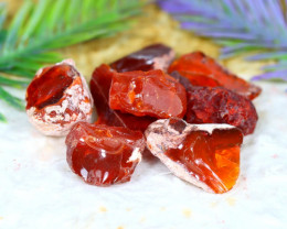 Fire Opal 95.00Ct Natural Mexican Red Fire Opal Rough A0512