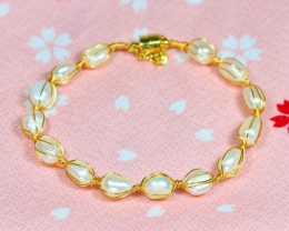 53.30Ct Baroque Freshwater Pearl Beads Bracelet A0536
