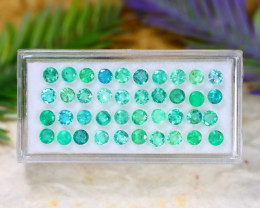 Muzo 5.95Ct Round Cut Natural Colombian Green Emerald Lot C0535