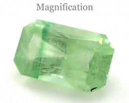 2.15ct Radiant Cut Mint Green Garnet from Merelani, Tanzania