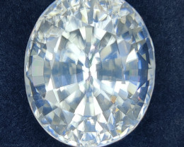 26.95 CTS GORGEOUS RARE NATURAL WHITE ZIRCON OVAL ATTRACTIVE