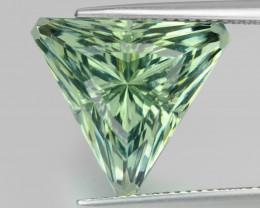 9.50Cts Stunning Natural Green Amethyst (prasiolite) Triangle Cut Loose Gem