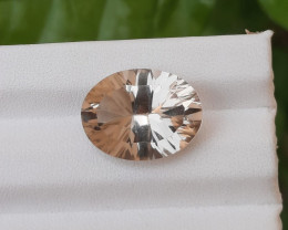 ~NR~HGTL Certified 9.13 Carats Natural Lamon Quart Nice Cut Gemstone