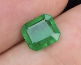 HGTL Certified ~1.79Ct Emerald Cut Natural Emerald Panjsher (Afghanistan)