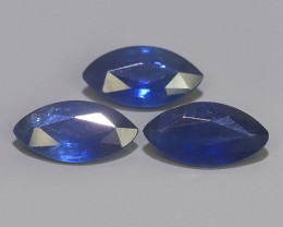 1.70 CTS NATURAL HEATED BEAUTIFUL BLUE SAPPHIRE MAQ COLLECTION 3 PCS