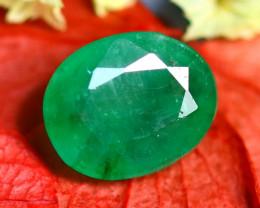 Emerald 1.32Ct Natural Zambia Green Emerald E0917/A38