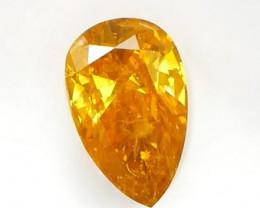 IGI Certified  Fancy Intense Yellow Diamond 0.96Ct NO TREATMENT