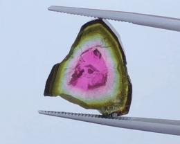 10.35 CT, Natural Watermelon Tourmaline Slice