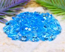 Swiss Topaz 100.66Ct Natural Brazil Swiss Blue Topaz Parcel A0633