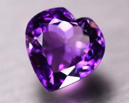 7.32ct Natural Purple Amethyst Heart Cut Lot GW142