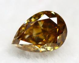 Yellowish Orange Diamond 0.28Ct Natural Untreated Genuine Diamond B0641