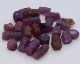 102.15 CT Top Quality Ruby Crystals ~ Madagascar tz