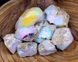 Welo Rough 160.30Ct Natural Ethiopian Rainbow Flash Opal Rough B0631