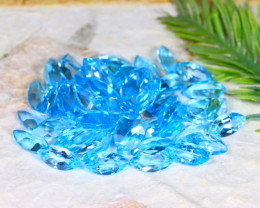 Swiss Topaz 112.30Ct Natural Brazil Swiss Blue Topaz Parcel B0628