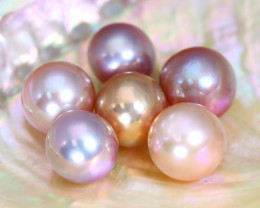 Pearl 48.31Ct Natural Drilled South Sea Pink Color Pearl Parcel C0633