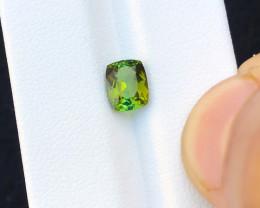 1.35 Ct Natural Greenish Yellow Transparent Tourmaline Gemstone