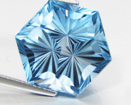 19.97Cts Sparkling Natural Baby Swiss Blue Topaz Fashion Octagonal Cut Coll