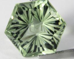 8.39Cts Stunning Natural Green Amethyst (prasiolite) Octagonal Cut
