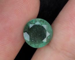 3.05Ct Brilliant Color Natural Zambian Emerald  Gemstone