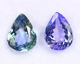 2.17cts Natural Tanzanite Gemstone Pairs / JKL1956