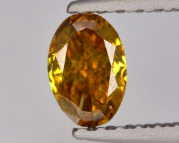 Diamond 0.33 Cts Untreated Yellowish Brown Color Natural