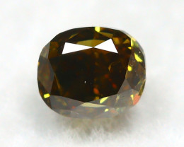 Greenish Orange Diamond 0.25Ct Natural Untreated Genuine Diamond A0745