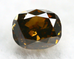 Yellowish Brown Diamond 0.32Ct Natural Untreated Genuine Diamond C0743