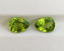 2.08 Cts Natural Green Peridot 8 X 6mm Pear Parcel