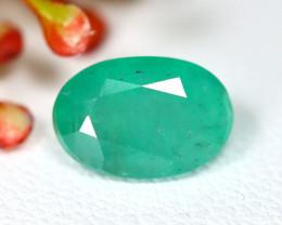 Muzo 2.01Ct Oval Cut Natural Colombian Green Muzo Emerald A0706