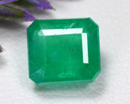 Muzo 2.30Ct Square Cut Natural Colombian Green Muzo Emerald B0703