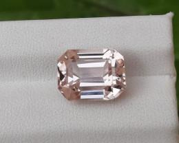 ~NR~HGTL Certified 6.03 Carats Natural Kunzite Gemstone From Afghanistan