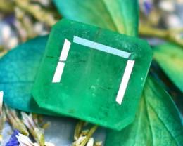 Emerald 2.20Ct Natural Zambia Green Emerald D1018/A38