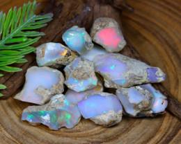 Welo Rough 115.60Ct Natural Ethiopian Flash Color Rough Opal C0732