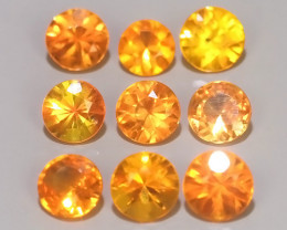 1.45 CTS  Excellent Natural Intense Beautiful Orange red Sapphire Round!!