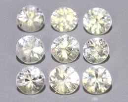 1.40  CTS EXCELLENT NATURAL WHITE ZIRCON~ ROUND  ~ NICE QUALITY GOOD LUSTER