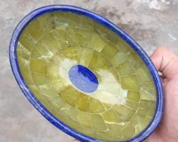~NO RESERVE~1890 Carats Natural Jade And Lapis Lazuli Bowl From Badakhshan