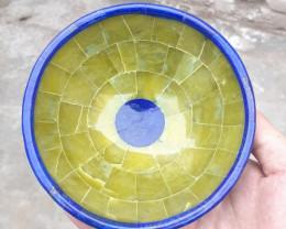 ~NO RESERVE~1640 Carats Natural Jade And Lapis Lazuli Bowl From Badakhshan