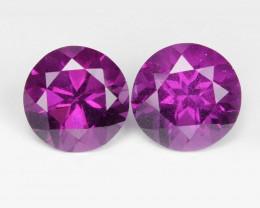 Umbalite Garnet1.94 Cts 2 Pcs Unheated Natural Cherry Pinkish Gemstone- Pai