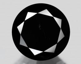 Black Diamond 1.26 Cts Natural Fancy 100% Black Diamond