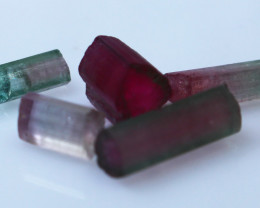 14.70 CTs Natural & Unheated~Bi Color Tourmaline Crystal Lot