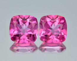 AAA Pink Topaz 5.32 Cts Awesome Fine Quality Natural Gemstone- Pair